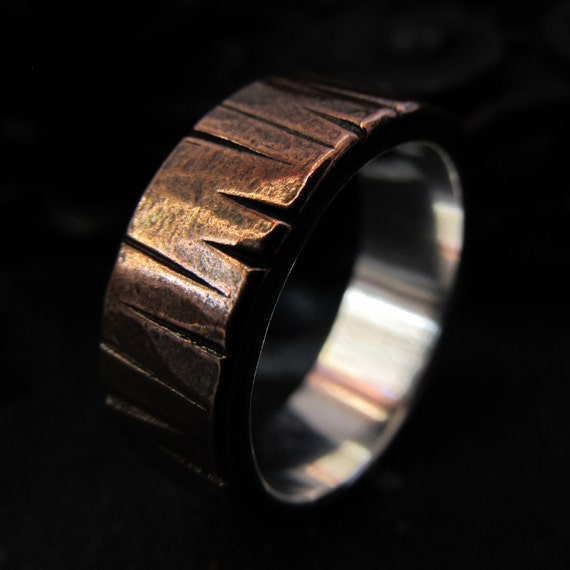Unavailable listing on etsy for Mens copper wedding rings