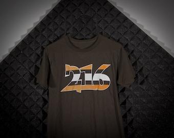 216 Cleveland ohio t-shirt