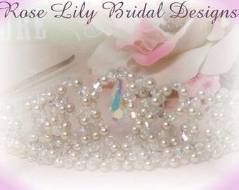 Victoria - crysatal and pearl tiara