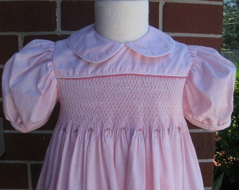 Smocked Yoke Dress, Size 2,