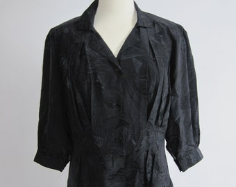 Black Vintage Silky Shirt