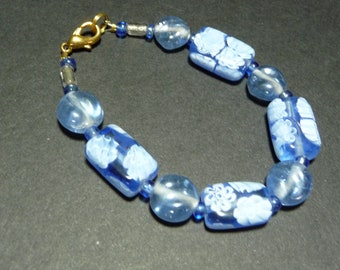 Flowery Blue Bracelet