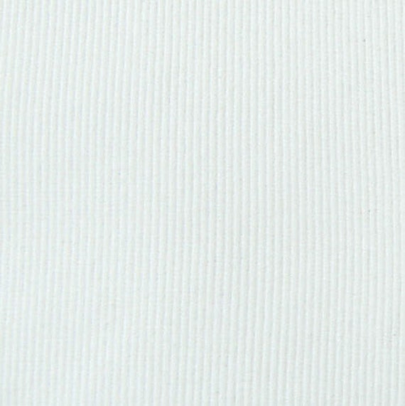 Binding Cuff Ribbing Knit Fabric White 1 Cut 7.5 By SunFabrics