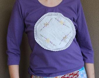 Purple emblem tshirt