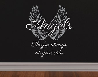 Angels, They're always at your side - Wall Decal