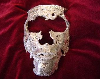 sterling silver mask sculpture