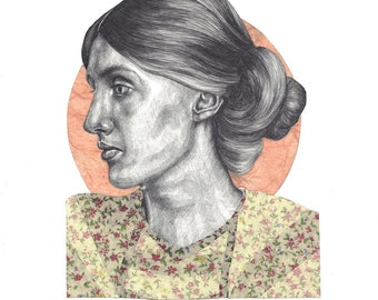 Virginia Woolf Limited Edition Print A4