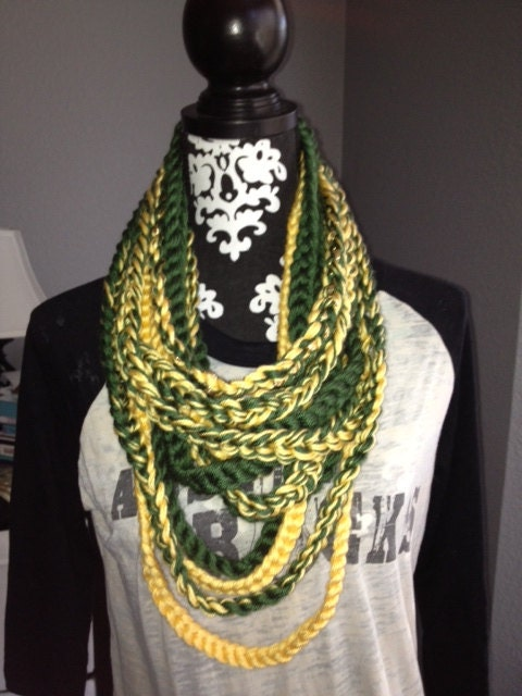 baylor green and gold scarf by knotbychristine on etsy