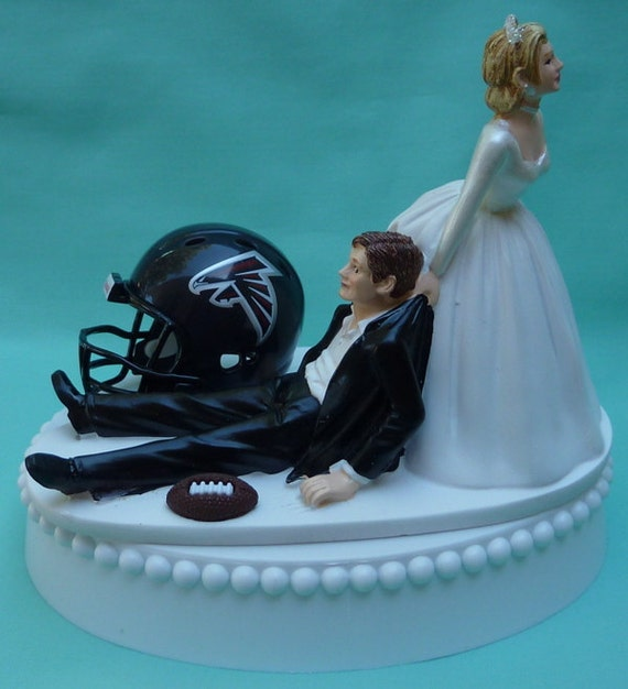 wedding cake topper atlanta falcons football sports themed. Black Bedroom Furniture Sets. Home Design Ideas