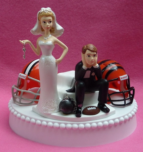 funny wedding cake toppers soccer wedding cake topper team rivalry football house divided 14606