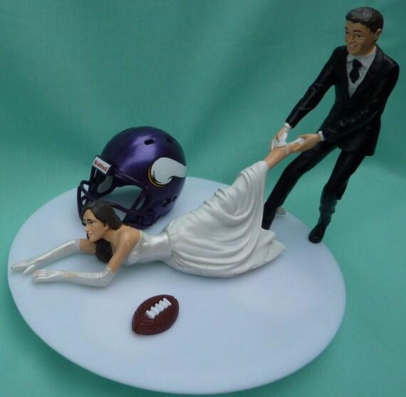 Wedding Cake Topper Minnesota Vikings G Football Themed W