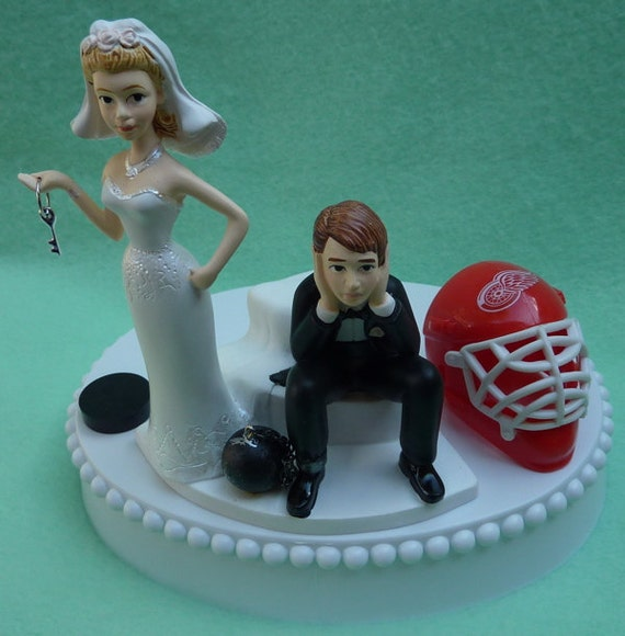 red wedding cake toppers wedding cake topper detroit wings hockey themed and 19179