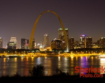 Saint Louis Skyline at Night - Image 03094