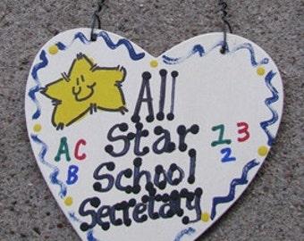 Teacher Gifts 5018 All Star School Secretary
