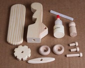 Handcrafted Mini Wooden Toy Airplane Kit 202K