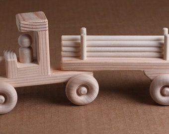 Handcrafted Large  Wooden Log Truck 101