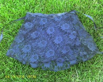 Lace ballet wrap skirt with ribbon tie.