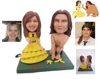 Tarzan and Jane handmade wedding cake topper  (Free Shipping Worldwide)