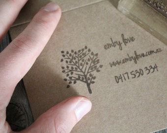 Custom Business Card Stamp - 2x3 Inches