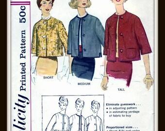 Simplicity 3582   Misses Lined Jacket  Size  12  Uncut