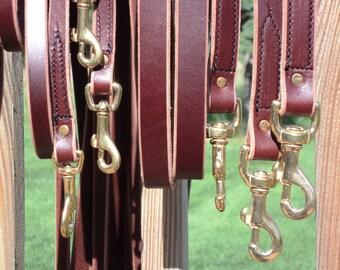 Handmade Latigo Leather Dog Leashes