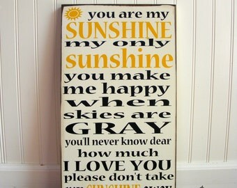 You Are My Sunshine Sign - Typography Wall Art