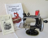 """Antique Singer Sewing Machine Model 20, """"A Singer for the Girls"""" for girls, with instructions and with Collector's Guide by Jerry Fogltance"""