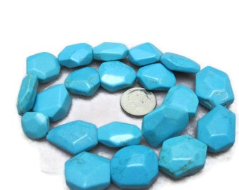 Howlite Turquoise Free Form Beads