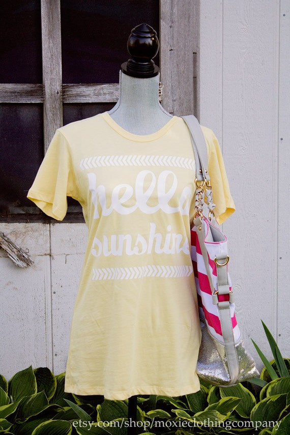 Hello Sunshine - made to order shirt