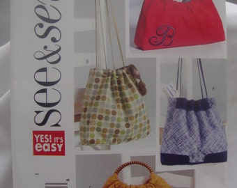 See and Sew 4645 Purse and Tote Bag Pattern
