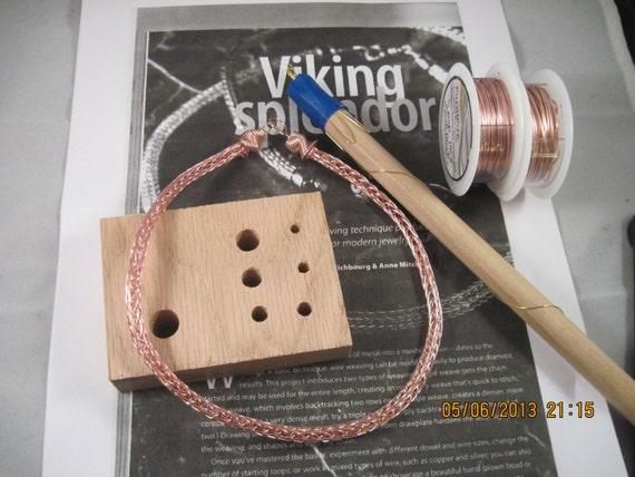Rose Gold Viking Knit Necklace Kit Instructions Rose Gold