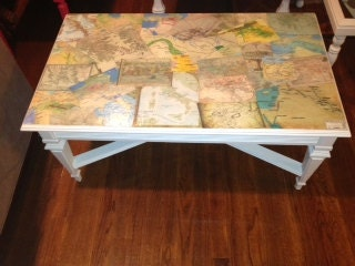 Vintage Decoupage Coffee Table