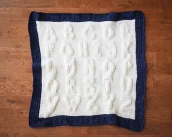 Crochet Pattern - Alphabet Afghan - Crochet Baby Afghan Pattern