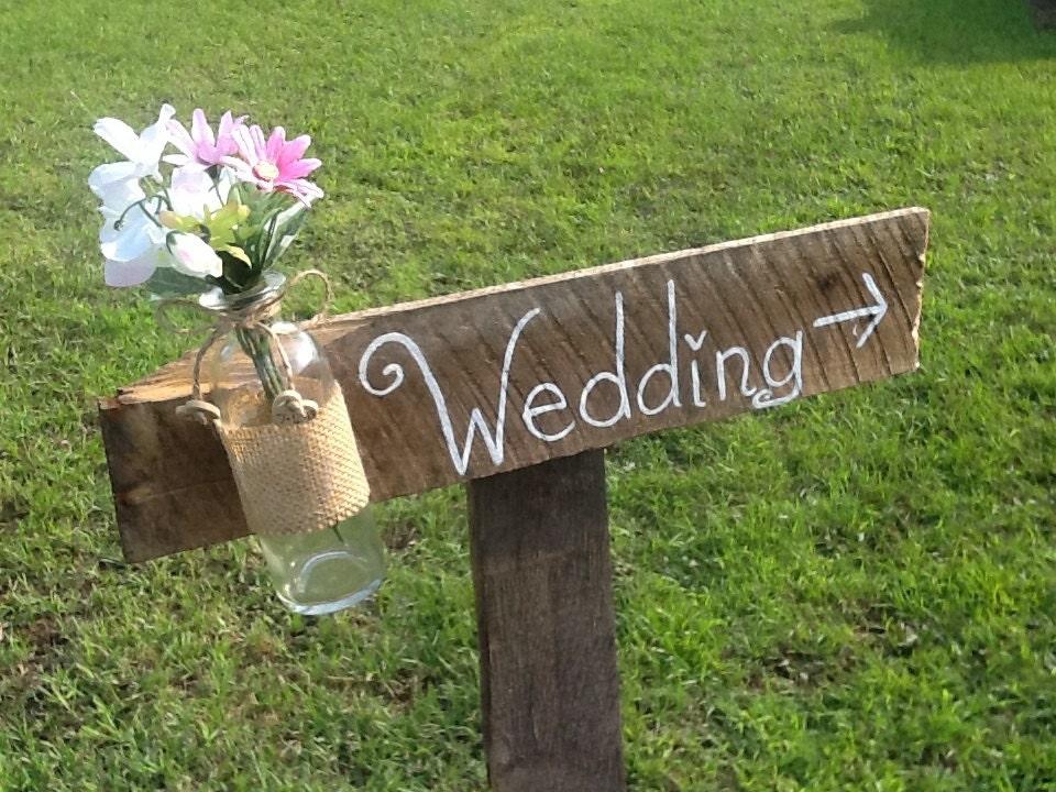 Rustic Wedding Sign Mason Jar Wedding Sign Wooden By PineNsign
