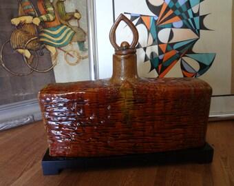 Vintage ceramic vase, One of a kind design.
