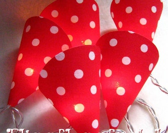 Cute fly AGARIC Garland / dots / points