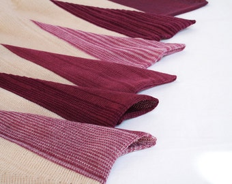 """Wearable Fiber Art - Finest Hand-Knit Shawl and Variable Top """"Blackberry"""" Made out of Merino Wool and Cotton OOAK"""