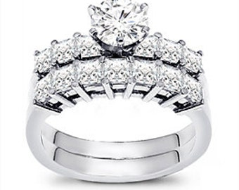 2 1/4 Carat Diamond Engagement Ring Set