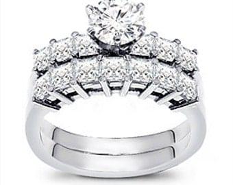 2 1/4 Carat Diamond Engagement Ring Set