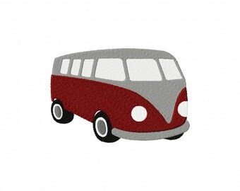 INSTANT DOWNLOAD Classic Bus Camper Machine Embroidery Design