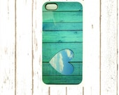 Aqua Heart Cell Phone Case, 5/5S and Iphone 6/6S Case,  Unique Cell Phone Case,  Gifts under 25.00