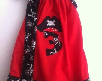 pirate pillowcase dress with number