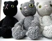 Amigurumi cat pattern crocheted soft toy plush pattern diy instant download PDF file