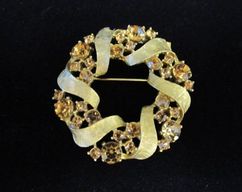 ART Rhinestone Brooch Item W-#435