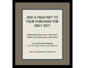 Add a Faux Mat to Your Print, Matted Wall Art