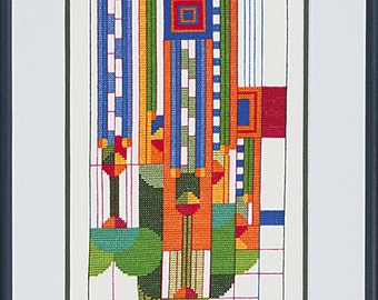 Frank Lloyd Wright Saguaro Forms Cross Stitch Kit