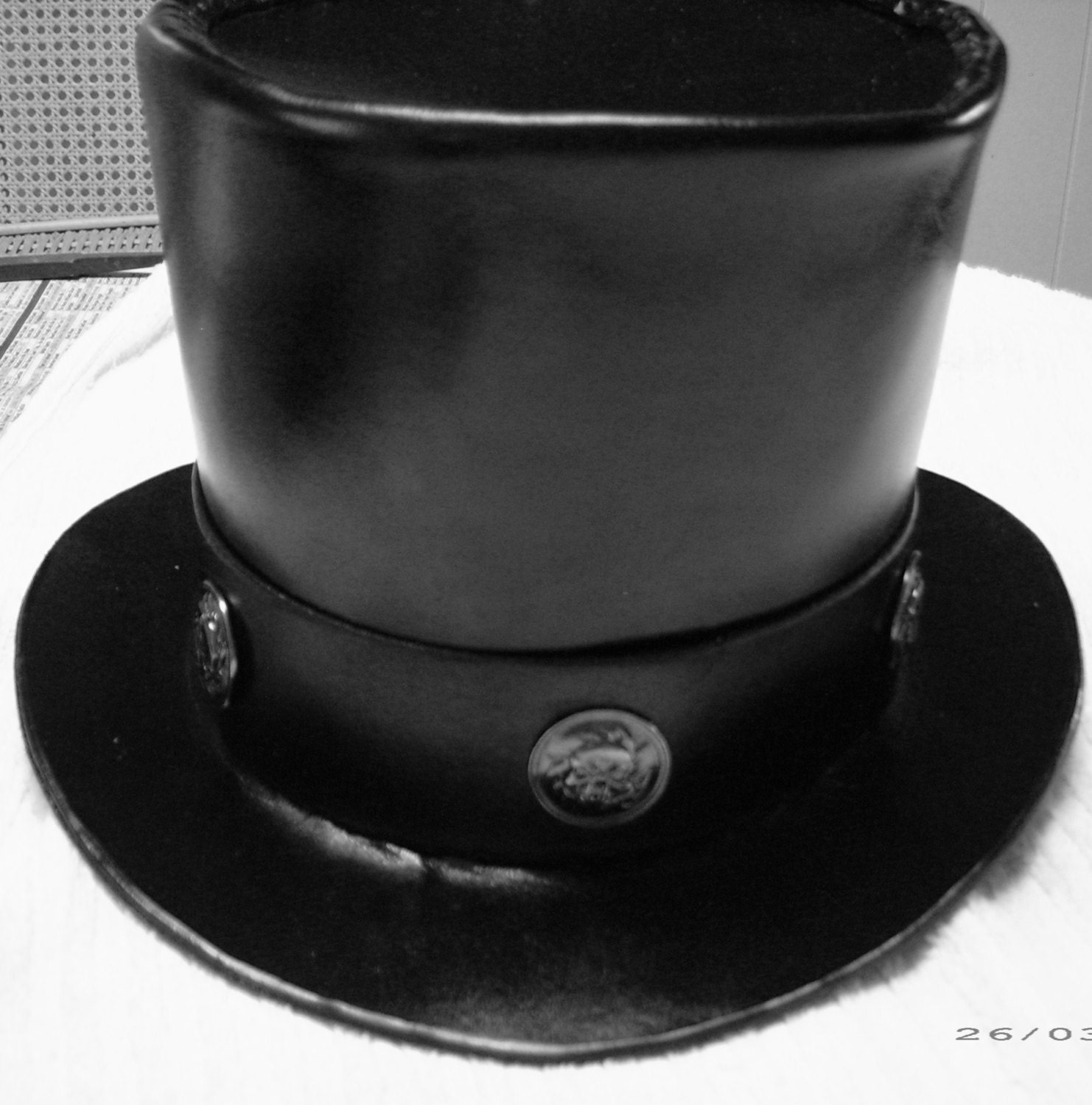 Leather Top Hat steampunk buy now online