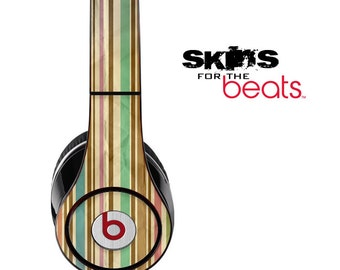 Vintage Striped Skin for the Beats by Dre Studio, Solo, MIXR, Pro or Wireless Version Headphones