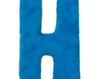 Turquoise Blue Letter H