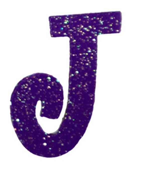 Purple Letter J